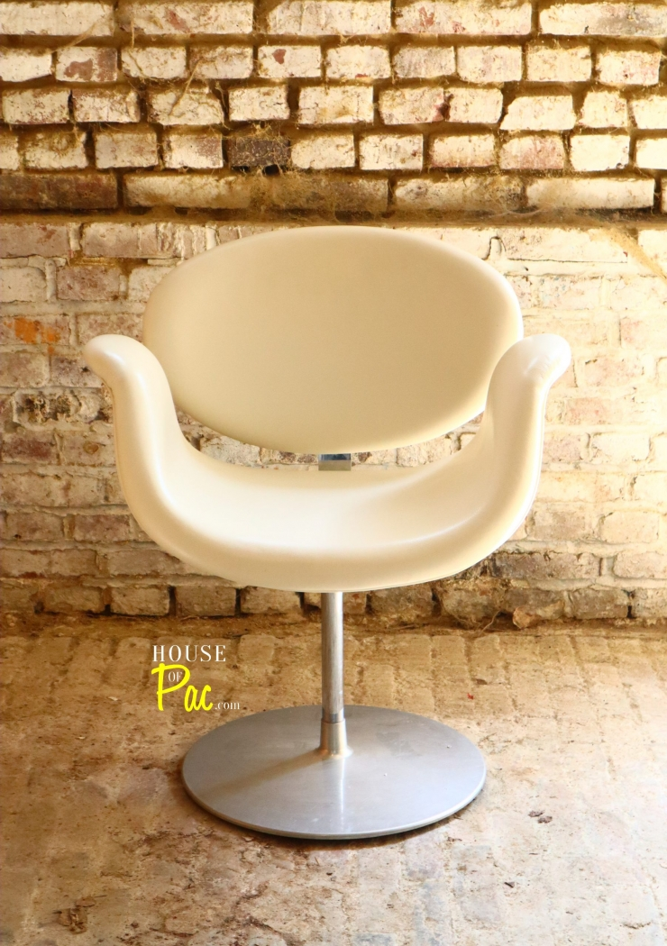 House of Pac - Little tulip Pierre Paulin Artifort Cream Leather
